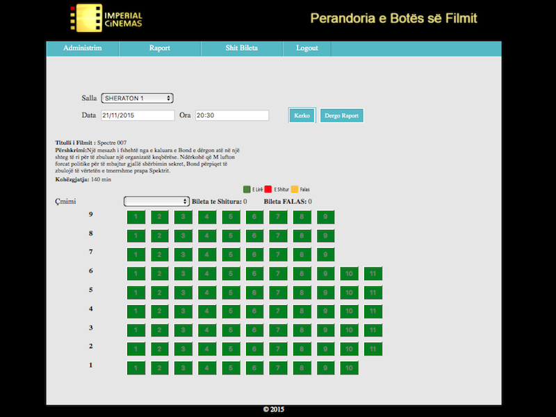 <p>A management system for cinemas. Through a simple, easy to use GUI, it offers functionalities such as configuration of cinema halls, ticket tracking and generating reports, to simplify and automate routine tasks. <a style=