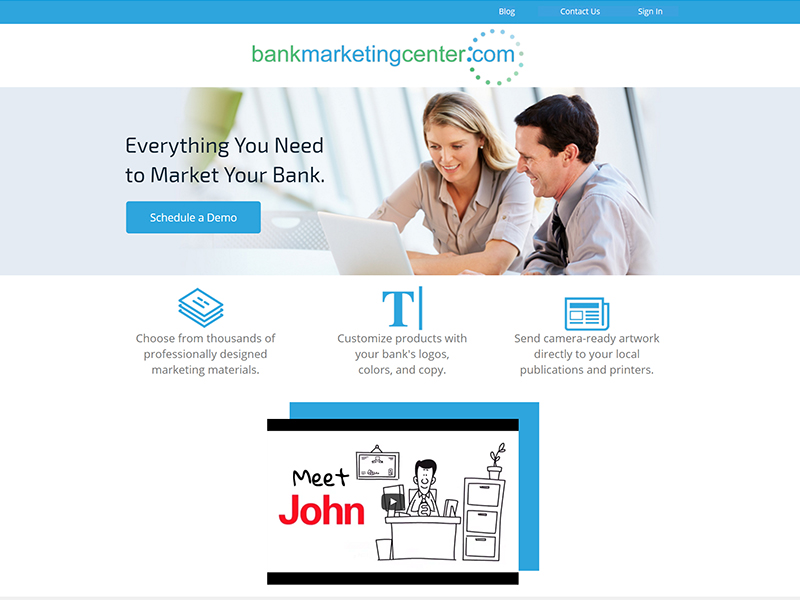 <p>The web site provides banks access to thousands of marketing materials and a set of over two million stock photos that can be used in combination with each other to create promotional pieces which attract new customers. <a style=