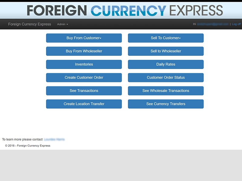 <p>Foreign Currency Express System (FCX) is a transaction proccessing system developed for Currency Exchange businesses. <a style=